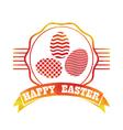 Easter vintage label vector image vector image