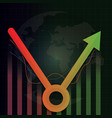economic recovery v shape after covid-19 crisis vector image vector image