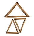 Fantastic triangles3 vector image