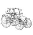 farm tractor concept vector image