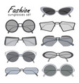 fashionable sunglasses collection different shape vector image vector image