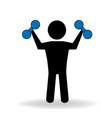 fit man working out icon vector image