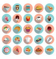 food and drinks color set on flat background vector image