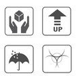 fragile symbol and packing box icon vector image vector image