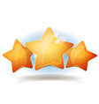 funny three stars icons for ui game score vector image vector image