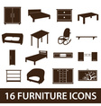 furniture icons eps10 vector image vector image
