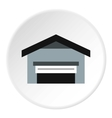 Garage with roof icon flat style vector image vector image