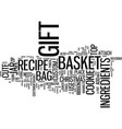 gift cookie gift bags or gift baker s basket text vector image vector image