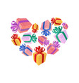 gifts heart i love gift i like holidays vector image vector image