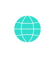 globe station solid icon world and earth vector image vector image