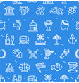 greece signs seamless pattern background on a blue vector image