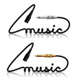 jack connectors music calligraphy vector image vector image