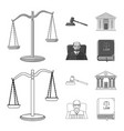 law and lawyer logo vector image