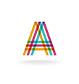 Letter A logo vector image