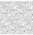 Man and Woman Travel Doodle Seamless Pattern vector image vector image