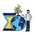 man world hourglass plant vector image vector image