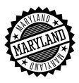 maryland black and white badge vector image