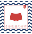 men underwear the silhouette menu item in the vector image