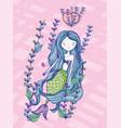 mermaid cute drawing vector image vector image