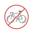Modern of Bicycles Prohibited Symbol vector image