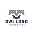 modern owl head logo vector image vector image