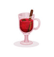mulled wine with spices on a vector image