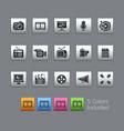 multimedia - satinbox series vector image