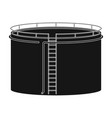 oil storage tankoil single icon in black style vector image