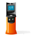 payment terminal automated teller machine vector image