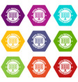 pc data security icons set 9 vector image vector image