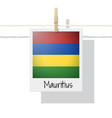 photo of mauritius flag vector image vector image