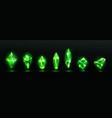 precious emerald stones shiny green crystals vector image