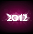 purple new year card 2012 with back light vector image vector image