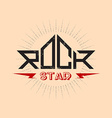 Rock Star - orirginal lettering with lightnings vector image vector image