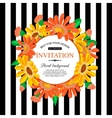 save date card with chamomile marriage vector image