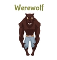 Scary werewolf Halloween costume idea vector image