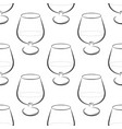 seamless background with wine vector image vector image