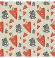 Seamless pattern the cute rabbit with carrot vector image