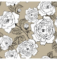 seamless pattern wild roses blossom branch vector image vector image