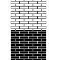 set of black and white brick wall brickwork vector image