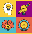 set of icons ideas creativity think knowledge vector image