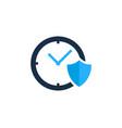 shield time logo icon design vector image vector image
