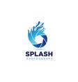 shutter splash logo symbol icon vector image vector image