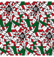 stylized decorative pointsettia christmas seamless vector image vector image