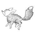 stylized fox in a jump a cartoon fox vector image vector image