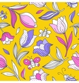 Summer pattern with tulips 1 vector image vector image