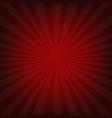 sunburst dark red retro poster vector image vector image