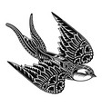 swallow logo vector image vector image