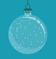 transparent christmas ball christmas tree vector image