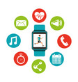 wearable technology with healthy lifestyle vector image vector image